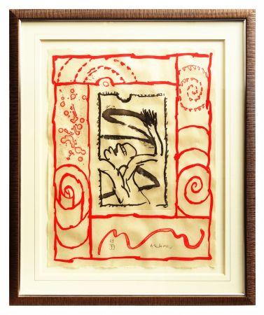 Lithograph Alechinsky - A bras le corps
