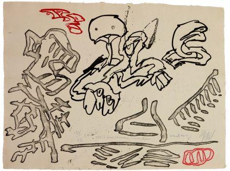 Aquatint Alechinsky - A deux pinceaux