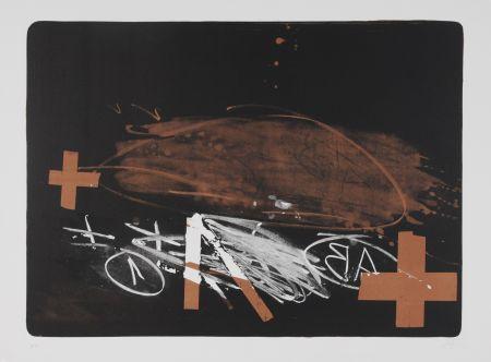 Lithograph Tapies - A effacé