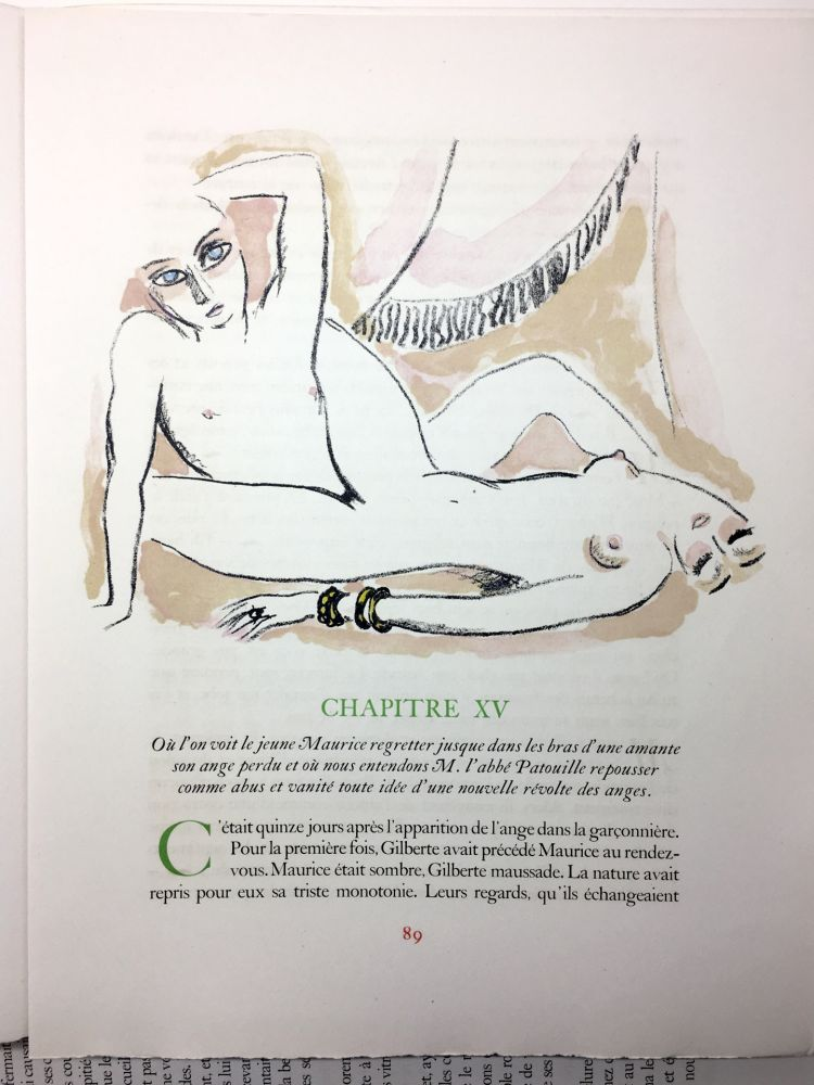 Illustrated Book Van Dongen - A. France : LA RÉVOLTE DES ANGES. 58 lithographies en couleurs (1951)