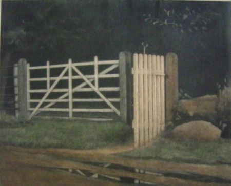 Mezzotint Ilsted - A gate in the wood