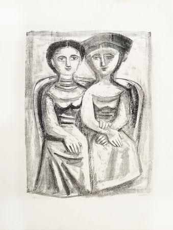 Lithograph Campigli - A Giuditta
