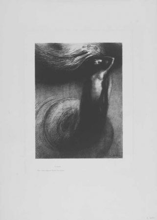 Lithograph Redon - A Gustave Flaubert