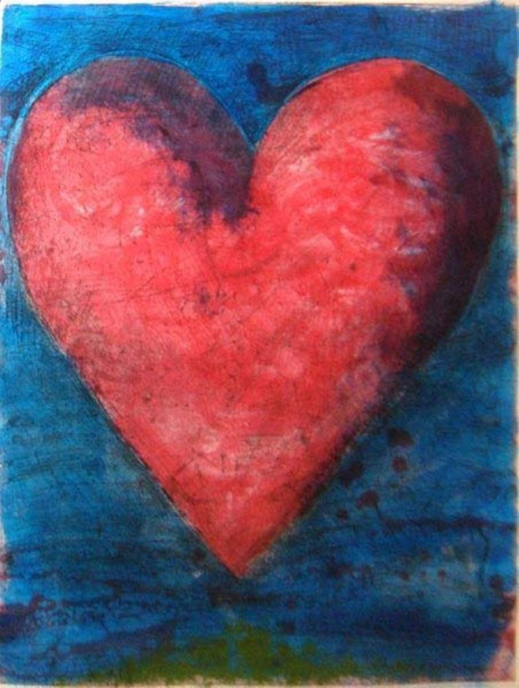 Etching Dine - A Heart on The Rue Grenelle