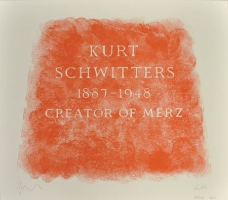 Lithograph Myles - A History of Type Design / Kurt Schwitters, 1887-1948 (Ambleside, England)