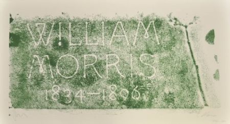 Lithograph Myles - A History of Type Desing / William Morris, 1834-1896 (Kelmscott, England)