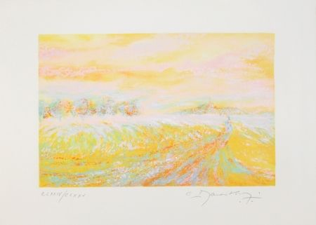 Lithograph Manoukian - A la campagne / In the Country
