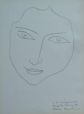 Lithograph Matisse - A la memoire de Angela Lamotte I