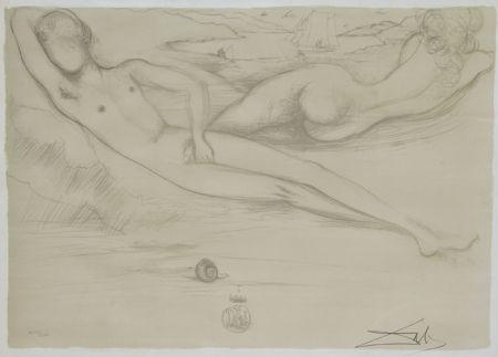 Lithograph Dali - A la Plage from the Nudes Suite