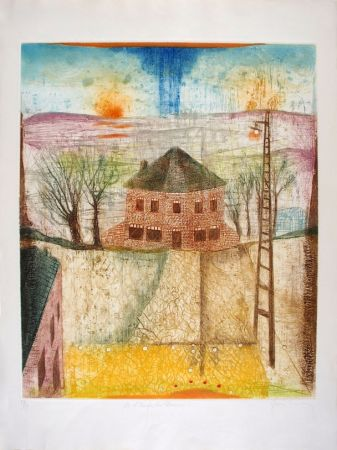 Etching And Aquatint Carcan - A l'angle du chemin
