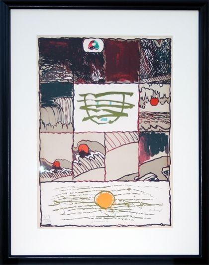 Lithograph Alechinsky - A l'imprimerie (1967)