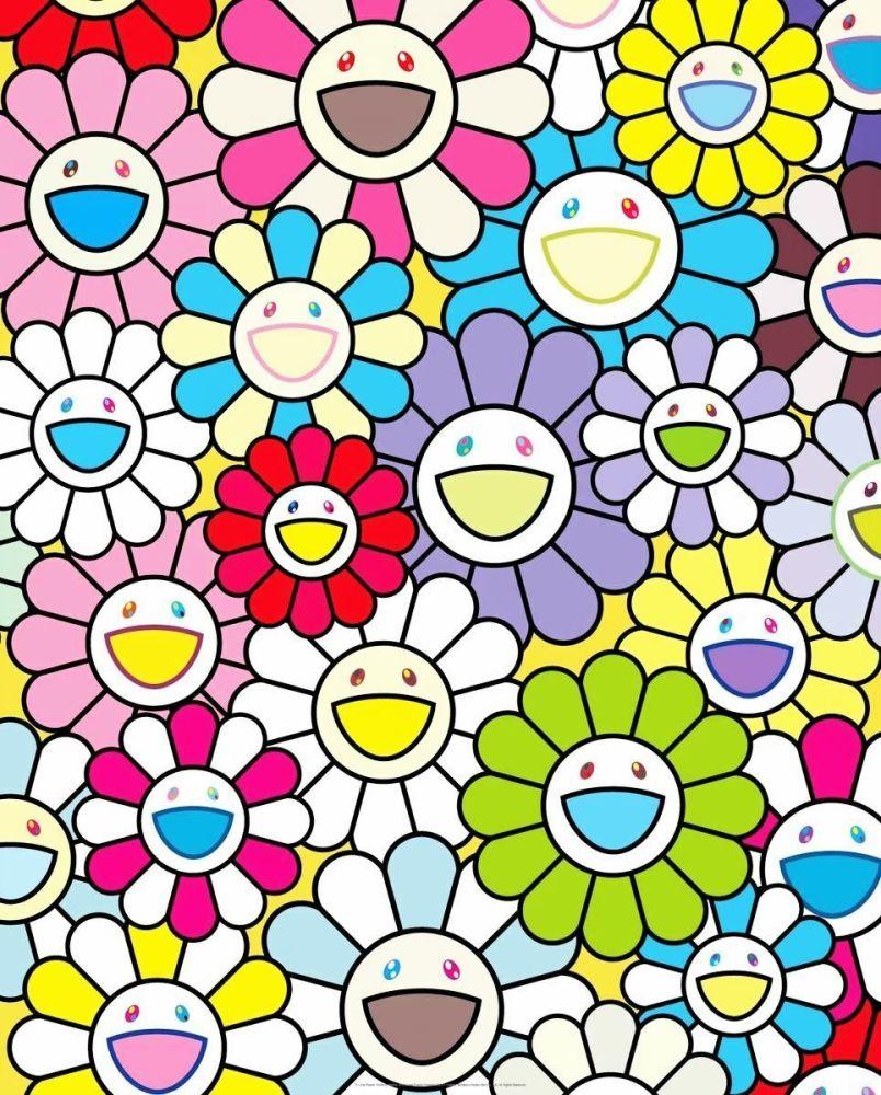 Lithograph Murakami - A Little Flower Painting II