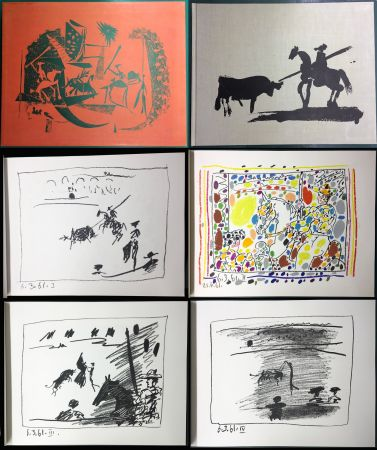 Illustrated Book Picasso - A LOS TOROS avec Picasso. 4 lithographies originales (1961)
