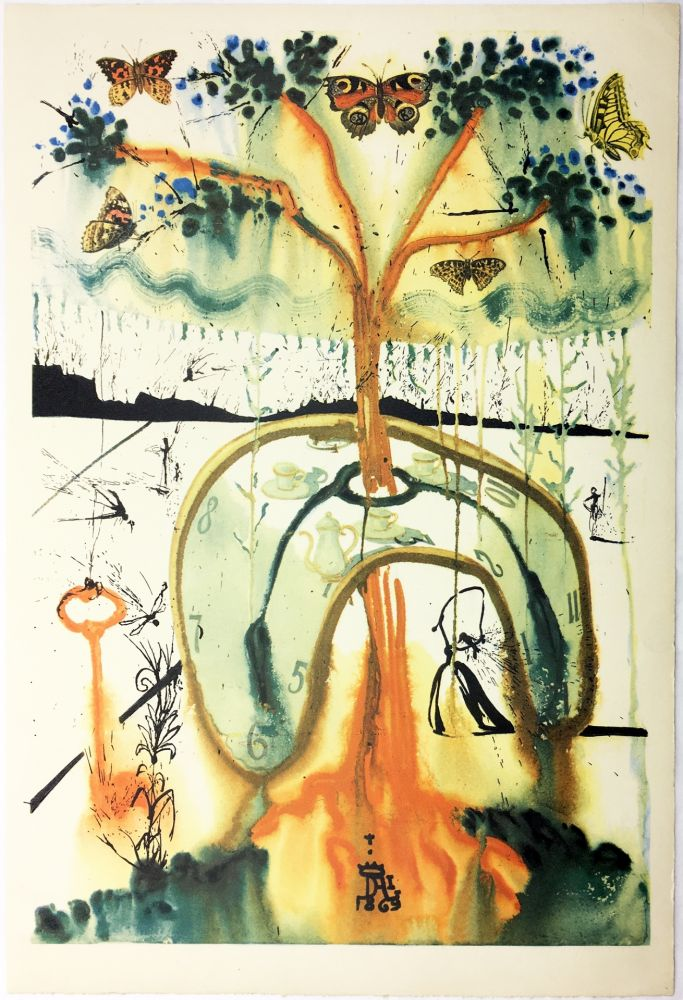 Rotogravure Dali - A MAD TEA PARTY (From Alice in Wonderland. New-Yok 1969).