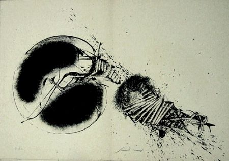 Lithograph Scanavino - A mezzo della notte