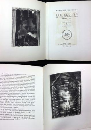 Illustrated Book Alexeïeff - A. Pouchkine : Les Récits de feu Ivan Pétrovitch Bielkine (1930)