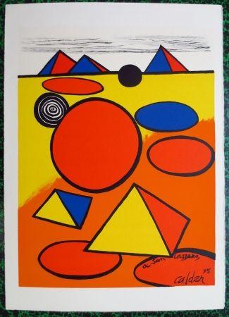 Lithograph Calder - A San Lazzaro
