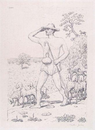 Lithograph Garbari - A SHEPHERD