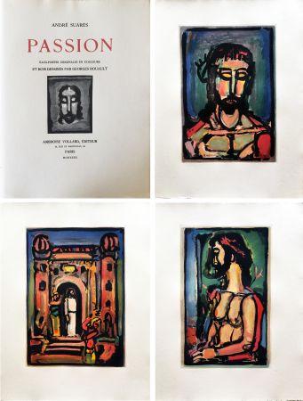 Illustrated Book Rouault - A. Suarès. PASSION. 17 eaux-fortes en couleurs de Georges Rouault (1939).