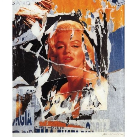 Screenprint Rotella - A Tribute to Marilyn (Original title: Omaggio a Marilyn)