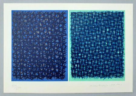 Screenprint Dorazio - A verde B blu