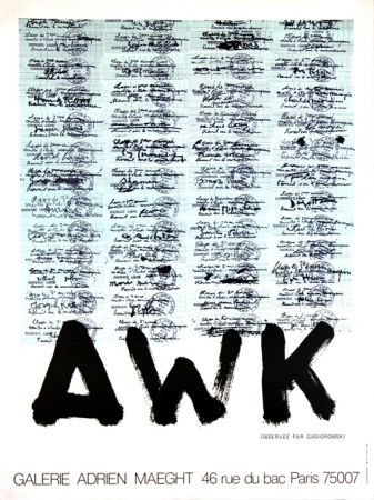 Lithograph Gasiorowski - A W K   Galerie Maeght