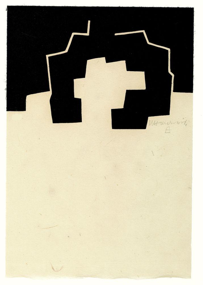 Woodcut Chillida - Abigune II
