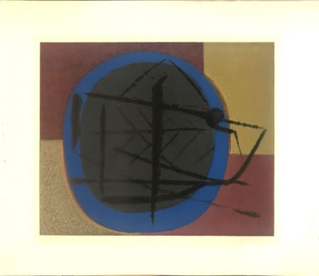 Lithograph Piaubert - Abstract composition