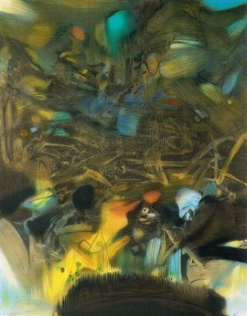 Lithograph Chu Teh Chun  - Abstract composition
