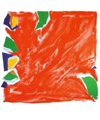 Lithograph Debré - Abstract composition