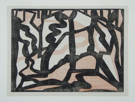 Woodcut Heemskerck,  - Abstract Composition