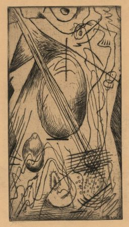Drypoint Bauer - Abstract composition N. 18