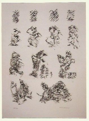 Lithograph Michaux - Abstract composition VI