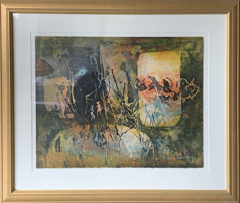 Etching Lebadang - Abstract Forrest