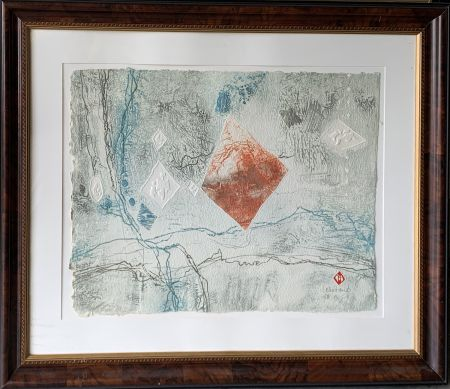 Etching Lebadang - Abstract Landscape