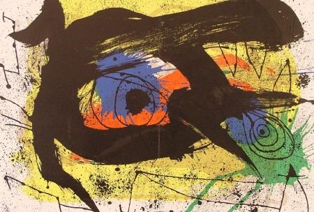 Lithograph Miró - Abstraction