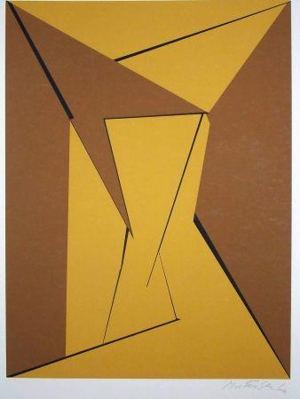 Screenprint Mortensen - Abstraction géométrique