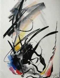 Lithograph Miotte - Abstrait