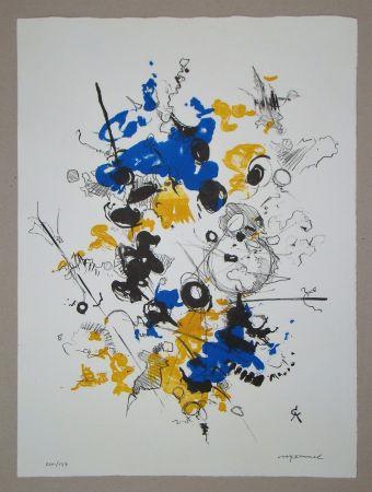 Lithograph Cavael - Abstrakte Komposition