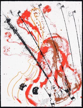 Screenprint Arman - Accords à cordes III
