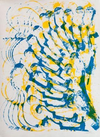 Lithograph Arman - Accumulation de violons