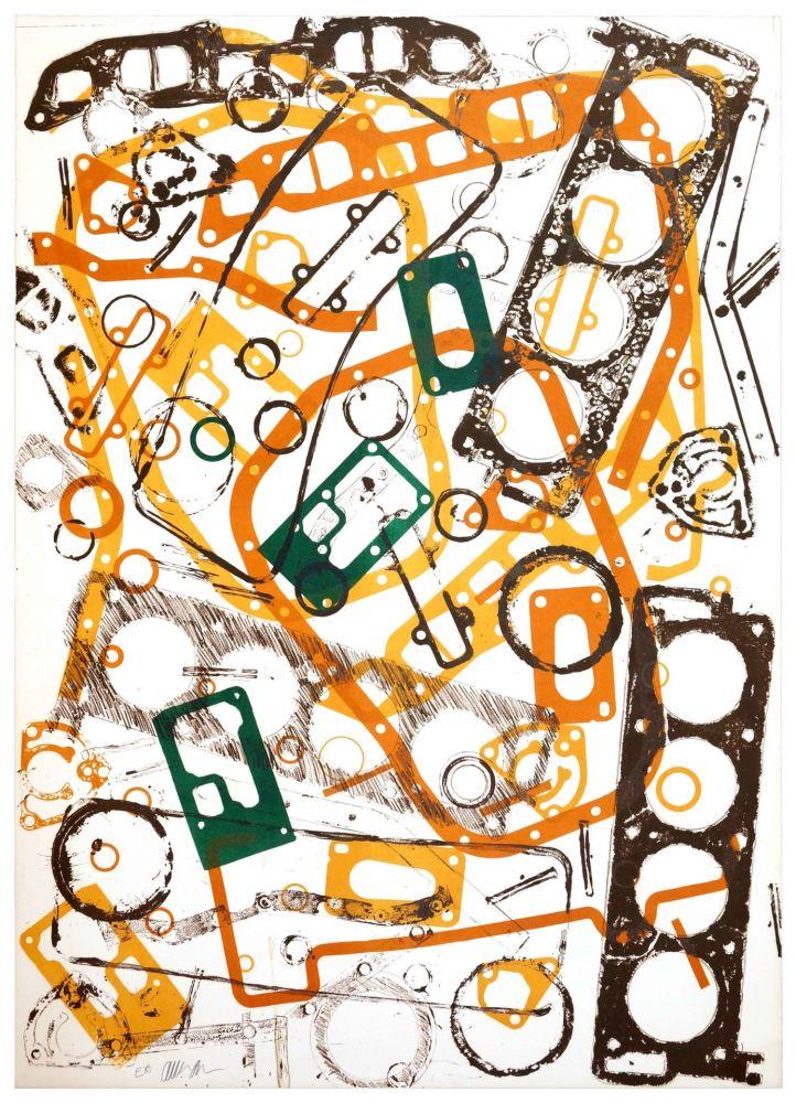 Lithograph Arman - Accumulation Renault