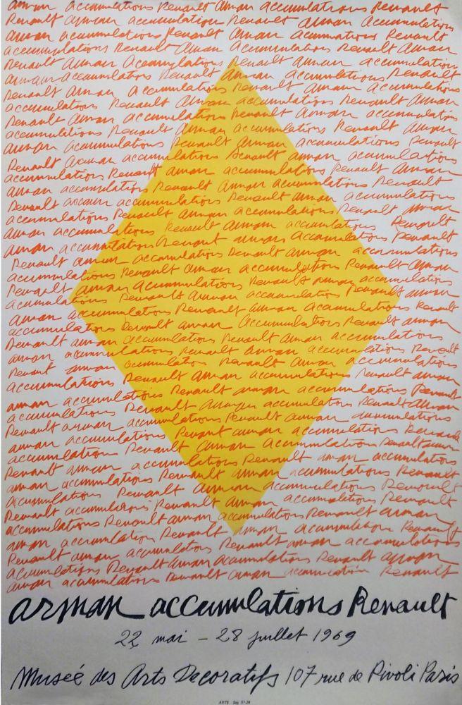 Lithograph Arman - '' Accumulations RENAULT ''