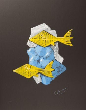 Lithograph Braque - Acheloos