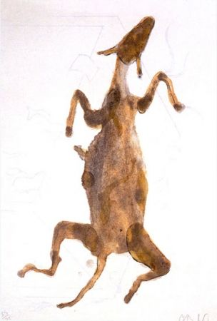 Lithograph Barcelo - ACRÓSTICO DE ASNO III