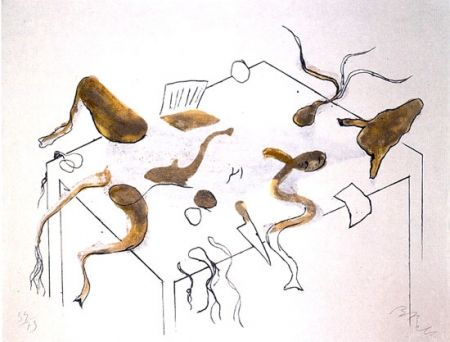 Lithograph Barcelo - ACRÓSTICO DE ASNO IV