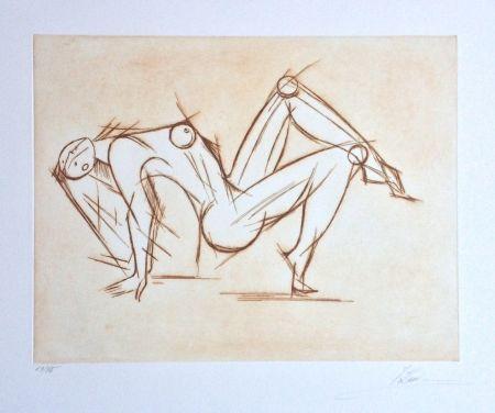 Etching Kahn - Acrobat