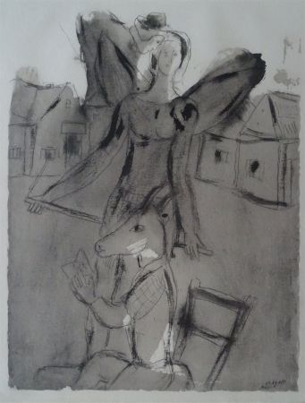 Pochoir Chagall (After) - Acrobate Aile