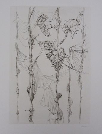 Etching And Aquatint Bellmer - Acrobates