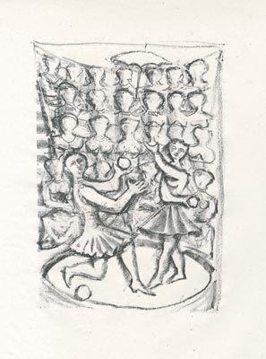 Lithograph Campigli - Acrobati (Theseus)
